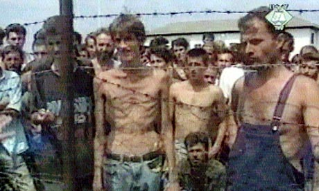 Serbian concentration camp Trnopolje Photo: Reuters 1992