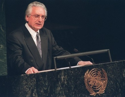 dr Franjo Tudjman addresses the United Nations General Assembly 22 May 1992