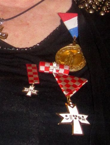 Ina Vukic - Commemorative Medal of the Homeland War and Order of the Croatian Trifoil