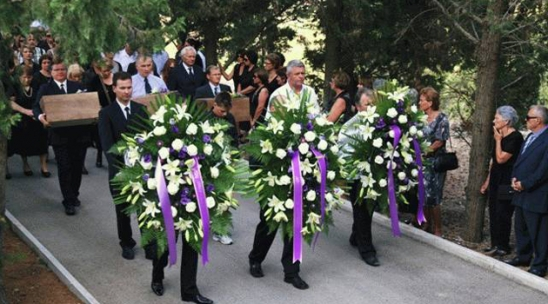 Blato, Island of Korcula, Croatia August 16 2012 funeral for earthly remains of communist crimes victims 1943 (including brother of dr Zvonimir Separovic) Photo: Ika/HRSvijet