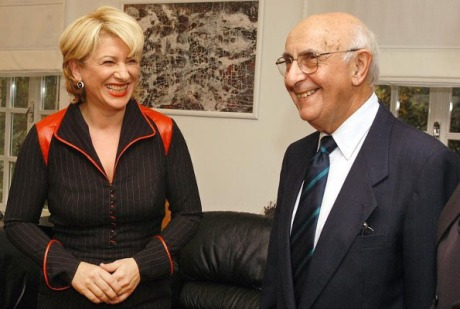 Vesna Skare Ozbolt met several times with ICTY Appeal Chamber Judge Theodor Meron during her mandate as Croatia's Minister of Justice (2003 - 2006)  Photo:turopoljka.com