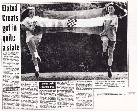 The Daily Telegraph Mirror - Australia - 17 January 1992