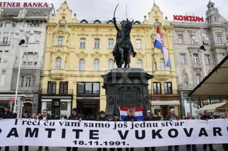 Remember Vukovar - No Cyrillic in Vukovar  Photo: demotix.com