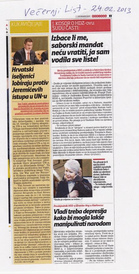 Vecernji List 24 February 2013