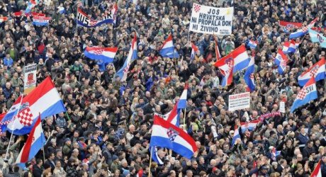 Vukovar rally 2 February 2013  Photo: Goran Ferbez/Pixsell