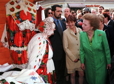Margaret Thatcher in Croatia 1998  Photo: Cropix