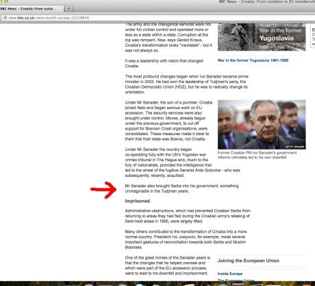 Tim Judah BBC article original edition 23 April 2013