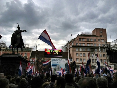 April 7, Ban Jelacic Square, Zagreb  Photo: Sacha Stephanie Vukic