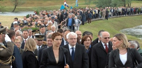 Jasenovac: 68th anniversary of breakout of inmates of concentration camp  Photo: Nikola Culuk/Pixsell