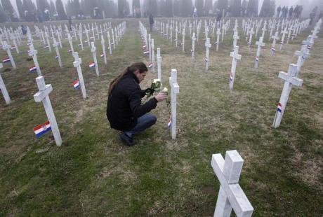 Memorial cemetery for victims of Vukovar Hospital 1991 massacre Photo: Associated Press