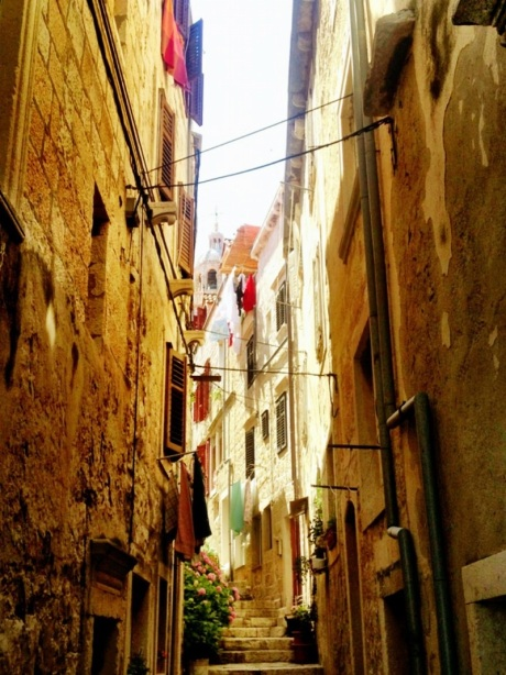 June 2013 - alleyway in old town of Korcula, Island of Korcula, Croatia