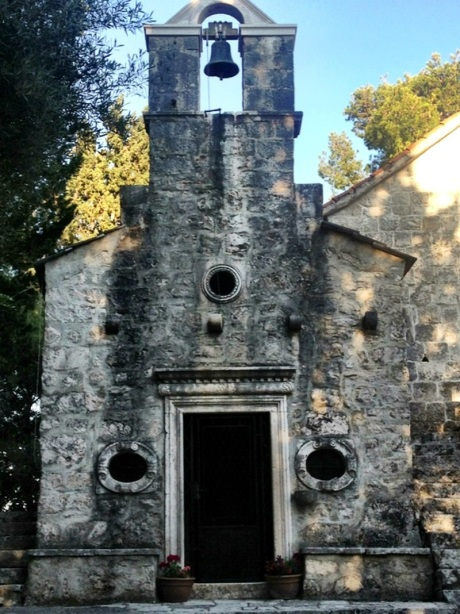 June 2013 - old chapel at cemetery Korcula, Croatia