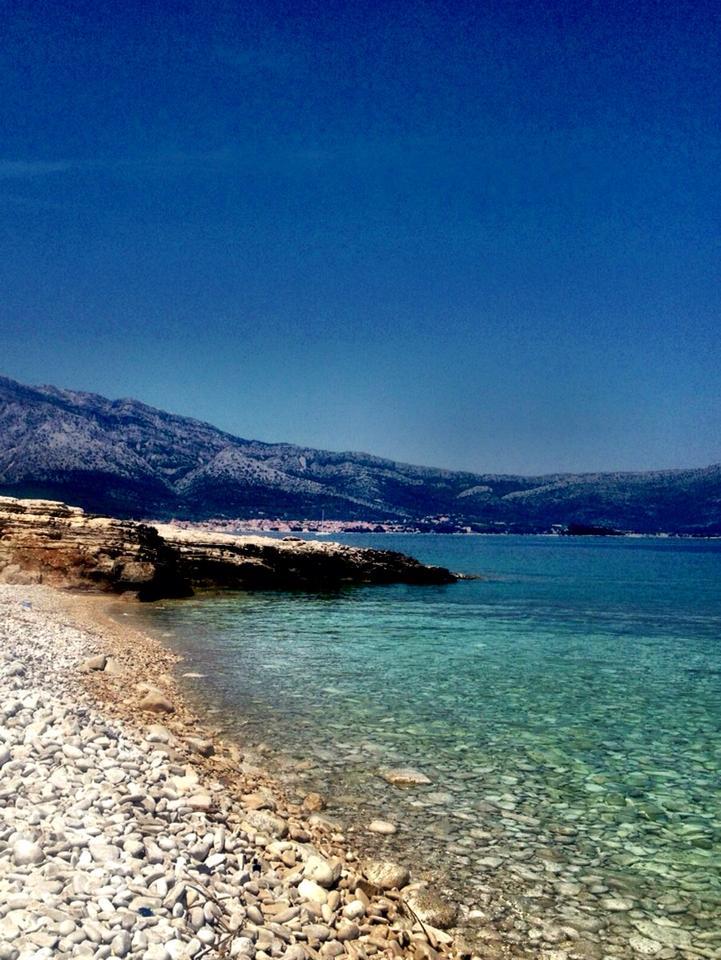 Korcula Croatia  City new picture : June 2013 – a Korcula Croatia beach