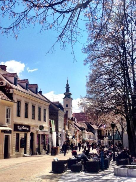 April 2013 - Tkalciceva street cafes Zagreb Croatia