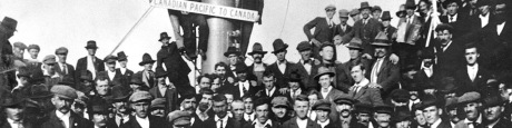 Croatian émigrés on ship to Canada in 1923.  According to estimates Croatian diaspora,  from Europe, over North and South America to Austrtalia …  encompasses more than two and half million people  (more than half of current population now living in Croatia)  Photo: http://www.hr-eu-net