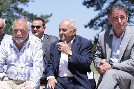 From Left: Stjepan Mesic, Slavko Goldstein, Milorad Pupovac  Photo: Zeljko Mrsic/Pixsell