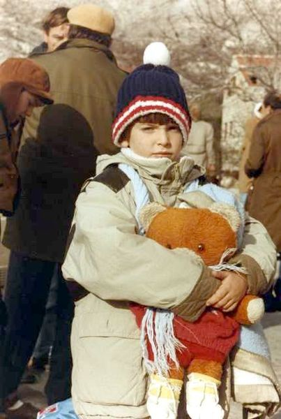 Croat child refugee 1991 Photo: wikimedia