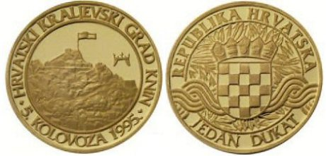 "In celebrating the victory of Operation Storm  Croatian National Bank issued a commemorative gold coin of featuring the town of Knin - ""The Town of Croatian Kings"" - all proceeds from the sale of  this coin went to the ""Save the Children of Croatia"" (Humanitarian Foundation For Children Of Croatia"" Headed and founded by president Franjo Tudjman's wife Ankica Tudjman. Ankica Tudjman was the first person in the war of Croatia to dedicate  humanitarian efforts across the globe to aid Croatian war orphaned children."