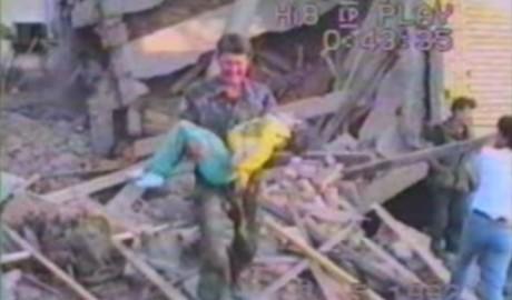 Croatia Slkavonski Brod - 1992 Yugoslav Army planes' indiscriminate bombing