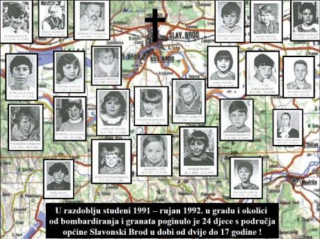 Croatia Slavonski Brod Tribute to fallen children