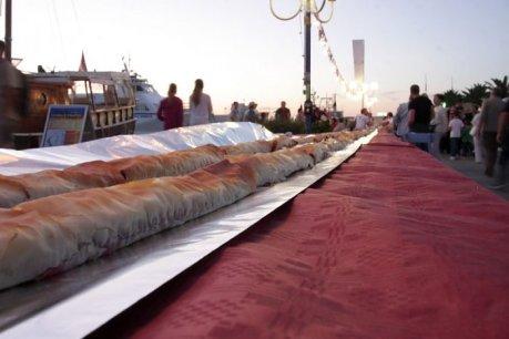 Croatian Strudel - Going for the Guinness Book of Records Photo: Zadarski list