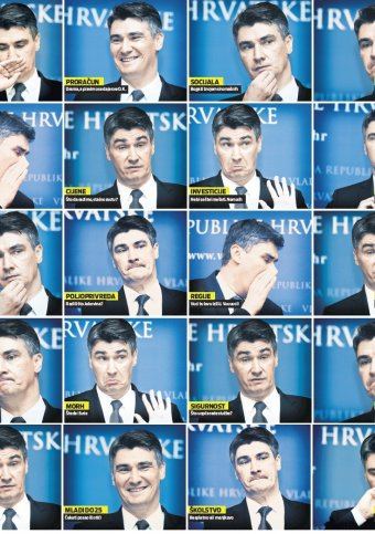Many Faces of Zoran Milanovic Photo: Vecernji List