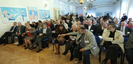 Public Discussion on Cyrillic in Vukovar Zagreb, Croatia, 24 October 2013 Photo: Sanjin Strukin/Pixsell