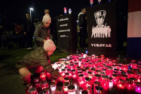 Remembering Vukovar in Zagreb November 2013 Photo: Ivan Klindic/Cropix
