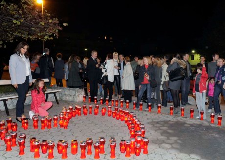 Split, Croatia, hearts for victims of Vukovar - November 2013 Photo: Jadran Babic/Cropix
