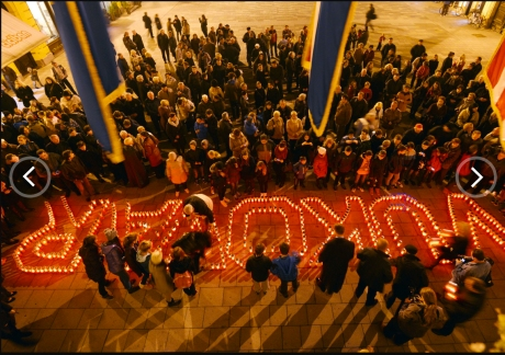 Varazdin, Croatia, remembers Vukovar - November 2013 Photo: Goran Stanzl/Pixsell