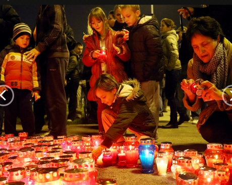 Remembering victims of Vukovar - Zagreb, Croatia, Nov 2013 Photo: Goran Stanzl/Pixsell