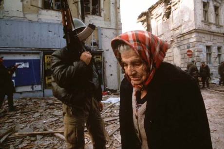 Vukovar, Croatia 1991 Croats forced to leave their homes