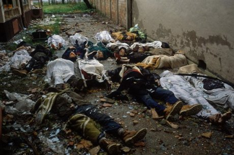 Vukovar, Croatia 1991 Alleyway of massacres of Croats