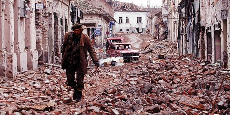 Vukovar, Croatia 1991 Devastation from Serb aggression