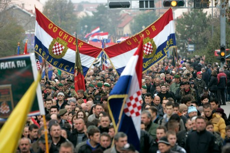 Croats march to Vukovar Memorial Cemetery to honour the fallen for freedom 18 Nov 2013   Photo: Vlado Kos/Cropix