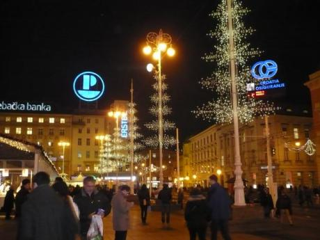 Advent on Ban Jelacic Square, Zagreb, Croatia
