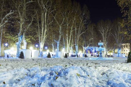 Advent in Zrinjevac Park, Zagreb, Croatia