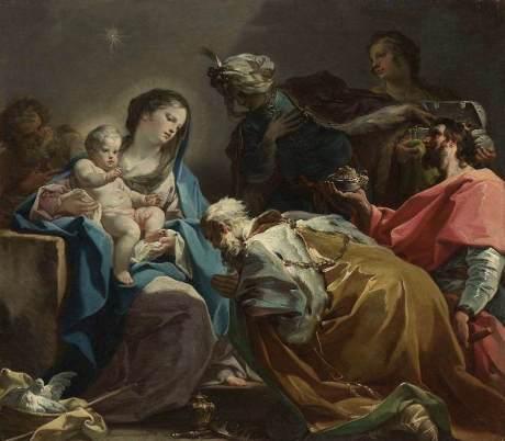 Adoration of the Magic Corrado Giaquinto cca 1725 Photo credit: www.corrado-giaquinto.org