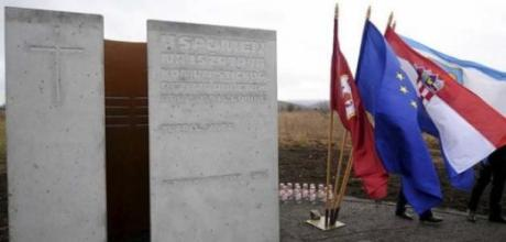 First Monument to Victims of  Communist Crimes in Croatia 30 December 2013 Tupale Sinac Croatia