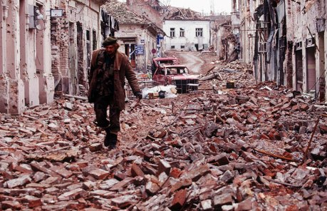 Vukovar, Croatia 1991 - brutally devastated from Serb aggression
