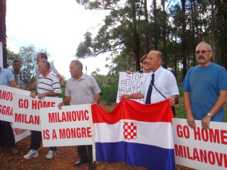 Protest against Croatia's Prime Minister Zoran Milanovic - Sydney March 10th 2014