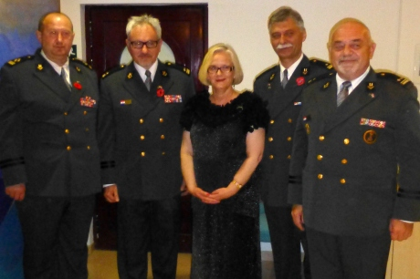ANZAC Day, Korcula, Croatia, 25 April 2014 The Hon Susan Cox with  Croatian Homeland War Veterans