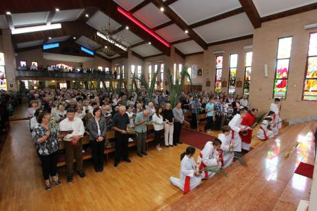 Palm Sunday 2014 - Croatian church Sydney, Australia Photo: Boka Cropress