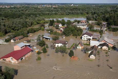 Flood in Rugavice Croatia