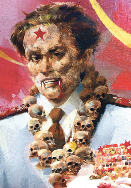 JUDGED AND CONDEMNED FOR COMMUNIST CRIMES   Portrait of Josip Broz Tito President of former Communist Yugoslavia Portrait in oil: Charles Billich