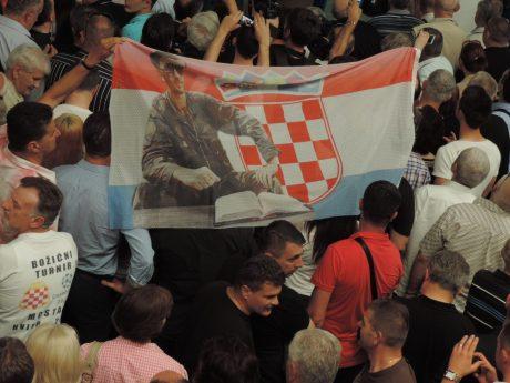 Welcome home Dario Kordic flag 6 June 2014 (Photo: Marija Tomislava)