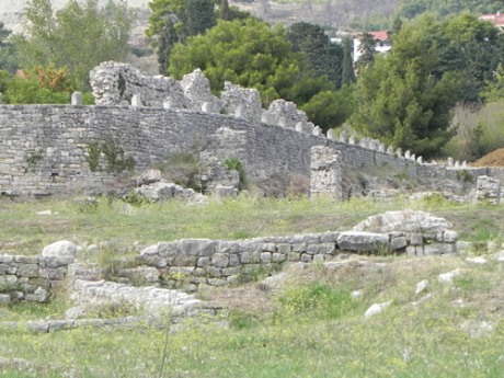 Salona - old city walls