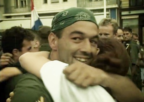 Operation Storm veteran receives a hug of gratitude