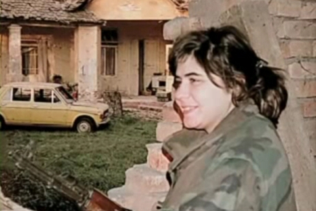 "Screenshot from movie ""The Heroes of Vukovar"" -  Violeta Antolic - Vicky"