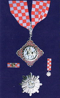 Order of Duke Trpimir  with Neck Badge and  Morning Star